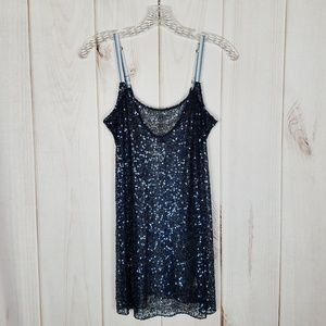 Free People | Midnight Blue Sequin Party Dress